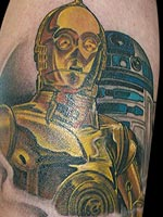 C-3PO and R2-D2 by Eric Vie