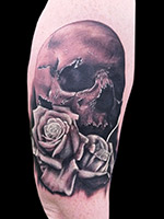 Skull and Rose by Joshua C Wiley