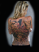 Big Cat Back Piece by Kelly Rogers