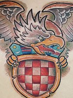 Croatian coat of arms by Kevin Tattrie