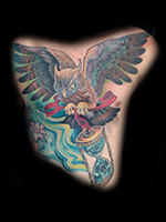 Owl Chest Piece by Taylor Moses Heald